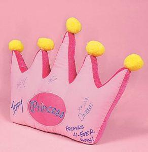 signature pillow pink princess crown