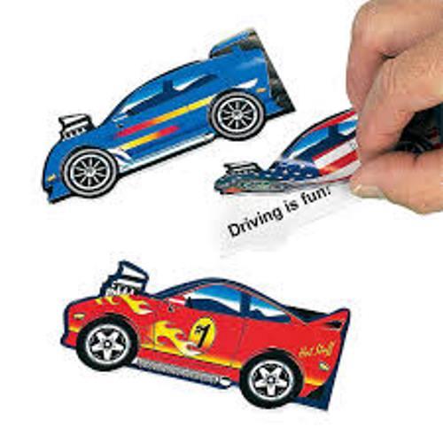 racing car notepads