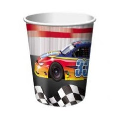start your engines car racing paper cups