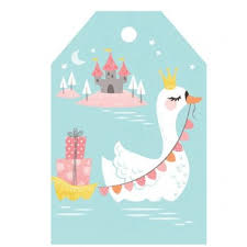 Swan gift tag