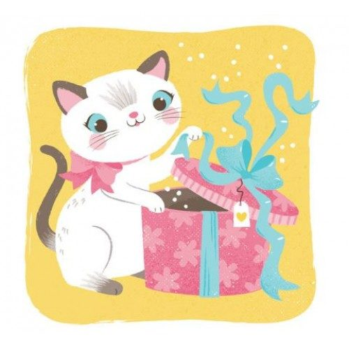 cat present greeting card