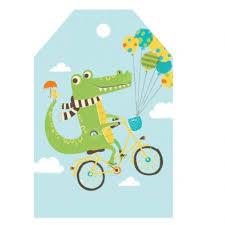 crocodile gift tag