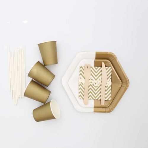 Bronze Matte gold tableware set