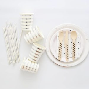 Silver Polka Dot tableware set