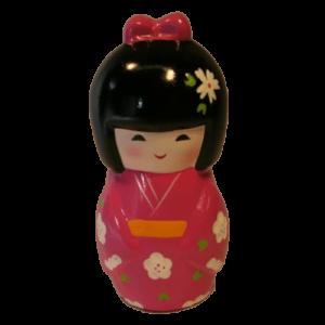 Kimono Money Box Pink Bow