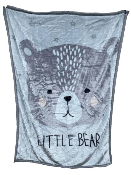 Little Bear Nordic Minky Cot Blanket