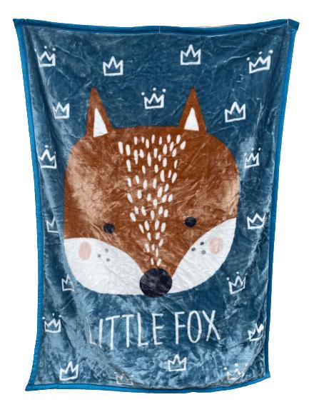 Little Fox Minky Cot Blanket